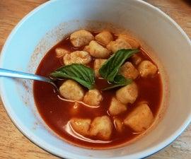 Gluten Free Gnocchi with Tomato Broth