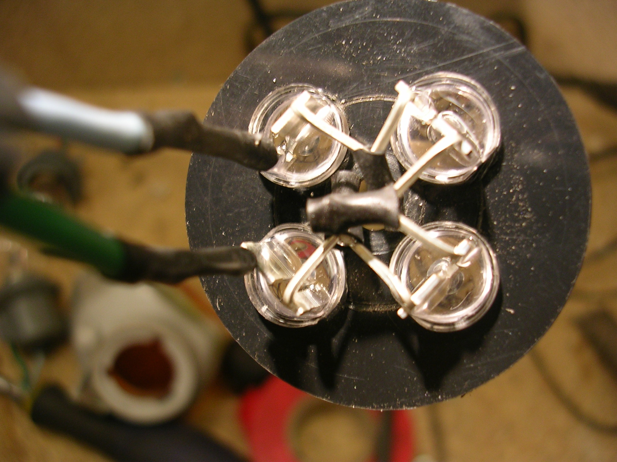Picture of Mounting and Soldering the LED's