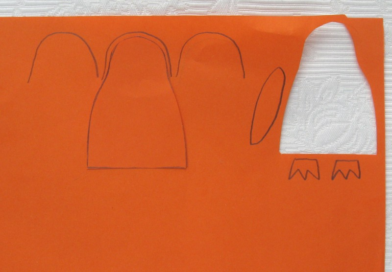 Picture of Paper Pattern Pieces.