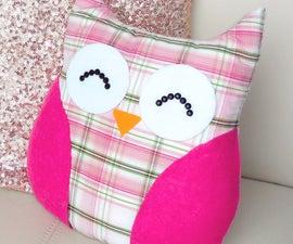 DIY ROOM DECOR ❤ Easy Owl Pillow! (Sew/no Sew)