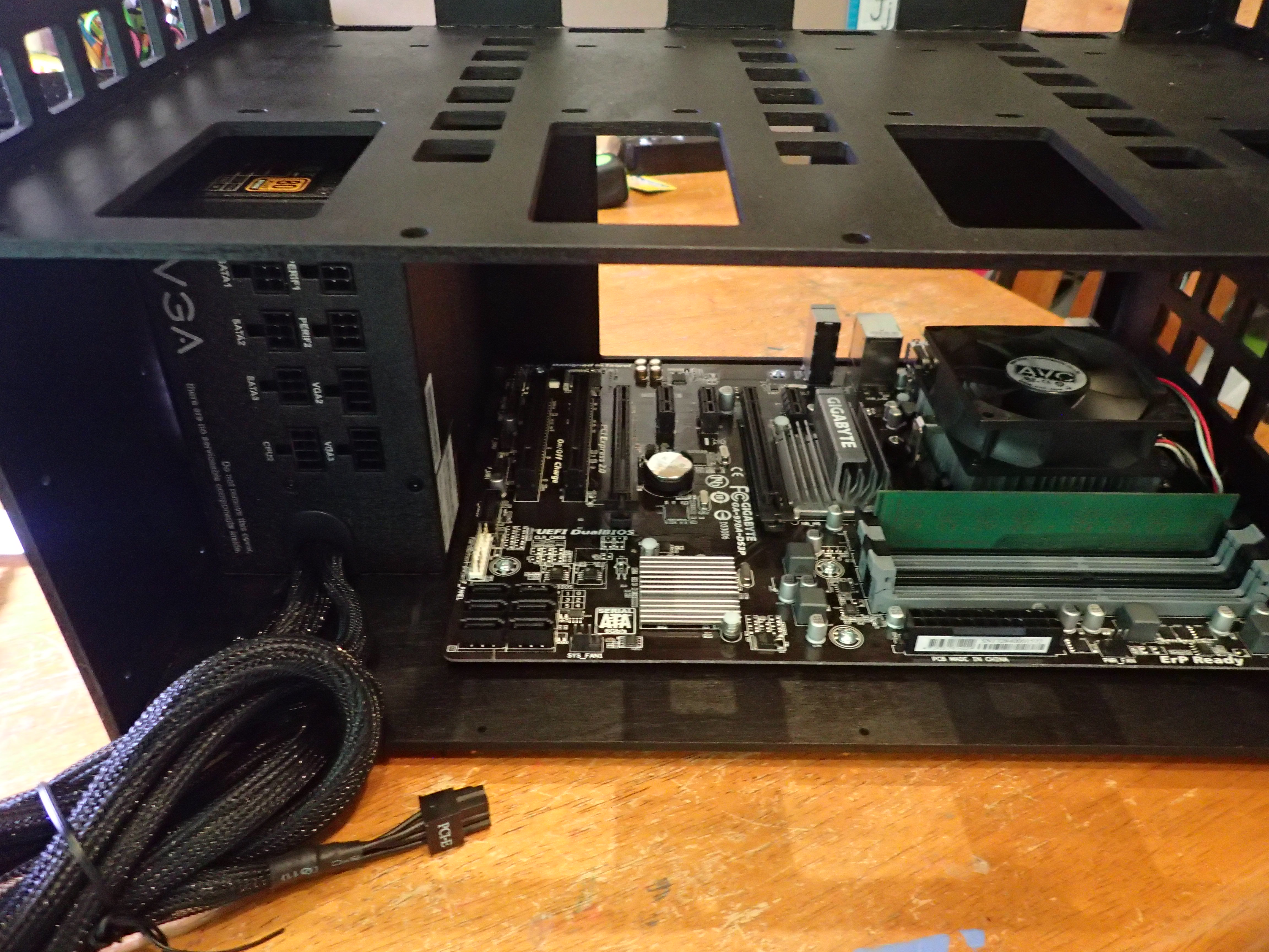 Picture of Install the Motherboard and Power Supply