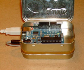 Arduino and battery pack in Altoids tins