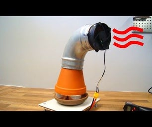 Clay Pot Heater With Fan - Powered by Candles (DIY)