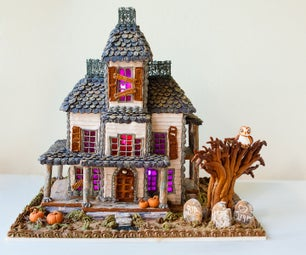 How to Make a Haunted Gingerbread House That Lights Up