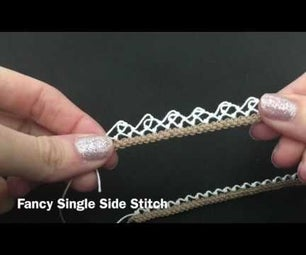 Armenian Knotted Lace: Fancy Single Side Stitch