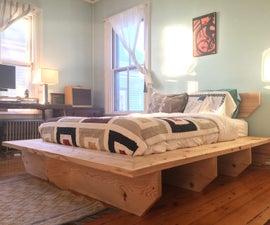 Modern Platform Bed // Hand Tools + Faming Lumber