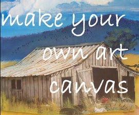Make Your Own Art Canvases