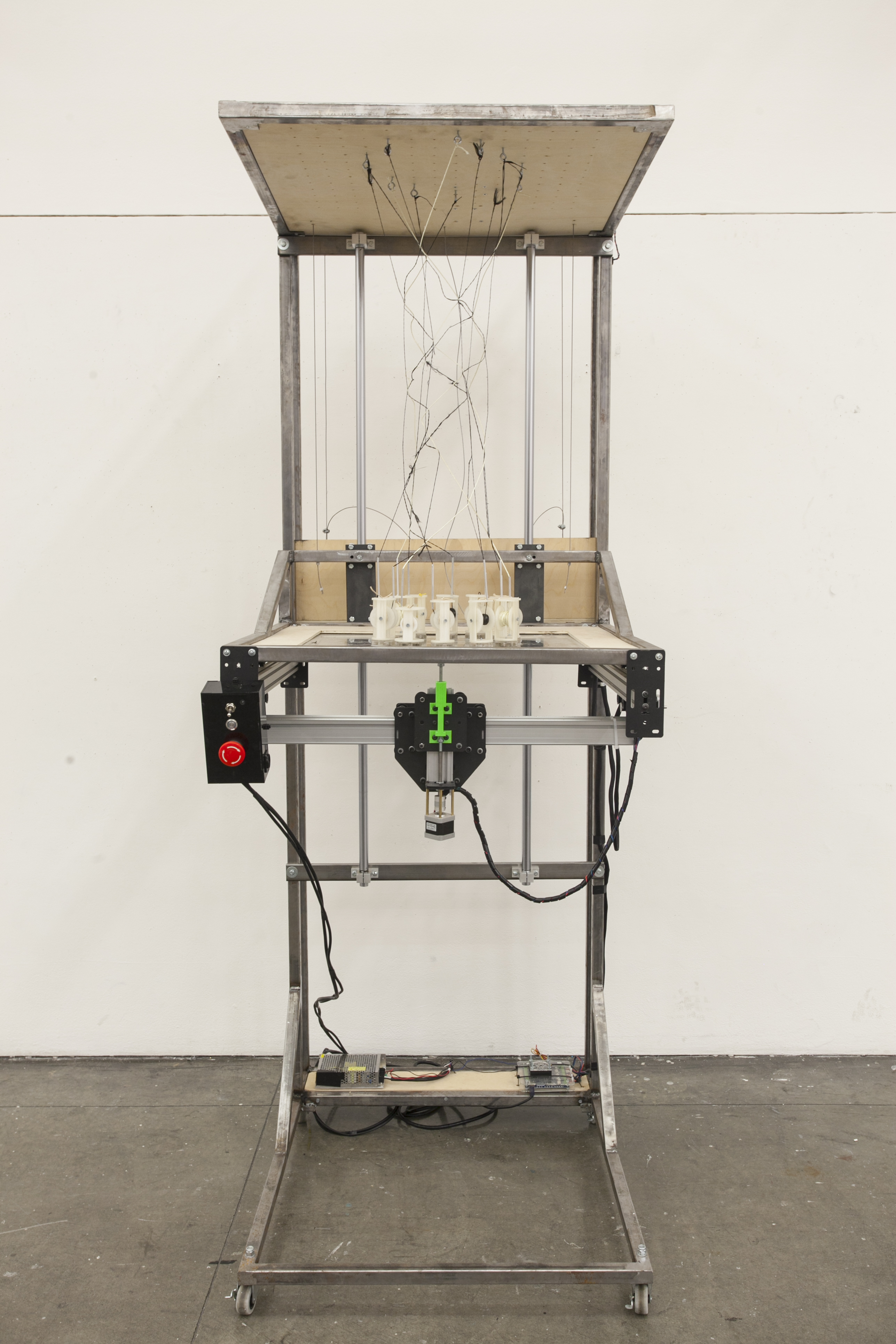 Picture of Space Weaver: a Seven Foot Tall 3D Weaving Machine