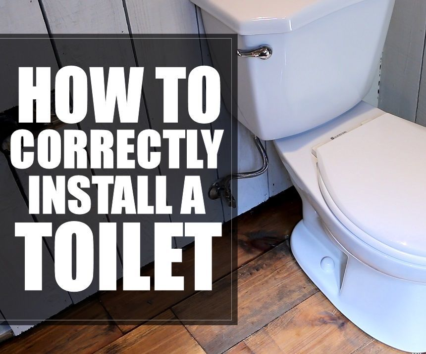 How To Correctly Install A Toilet  4 Steps  With Pictures