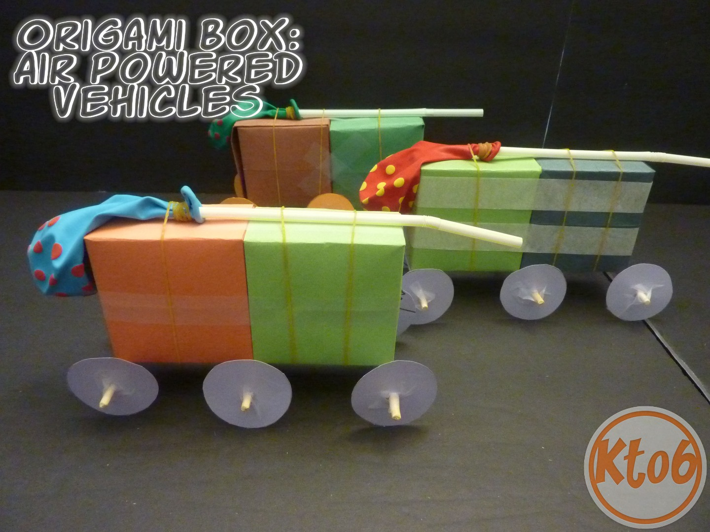 Picture of Origami Box (used As Air-powered Vehicle Body)