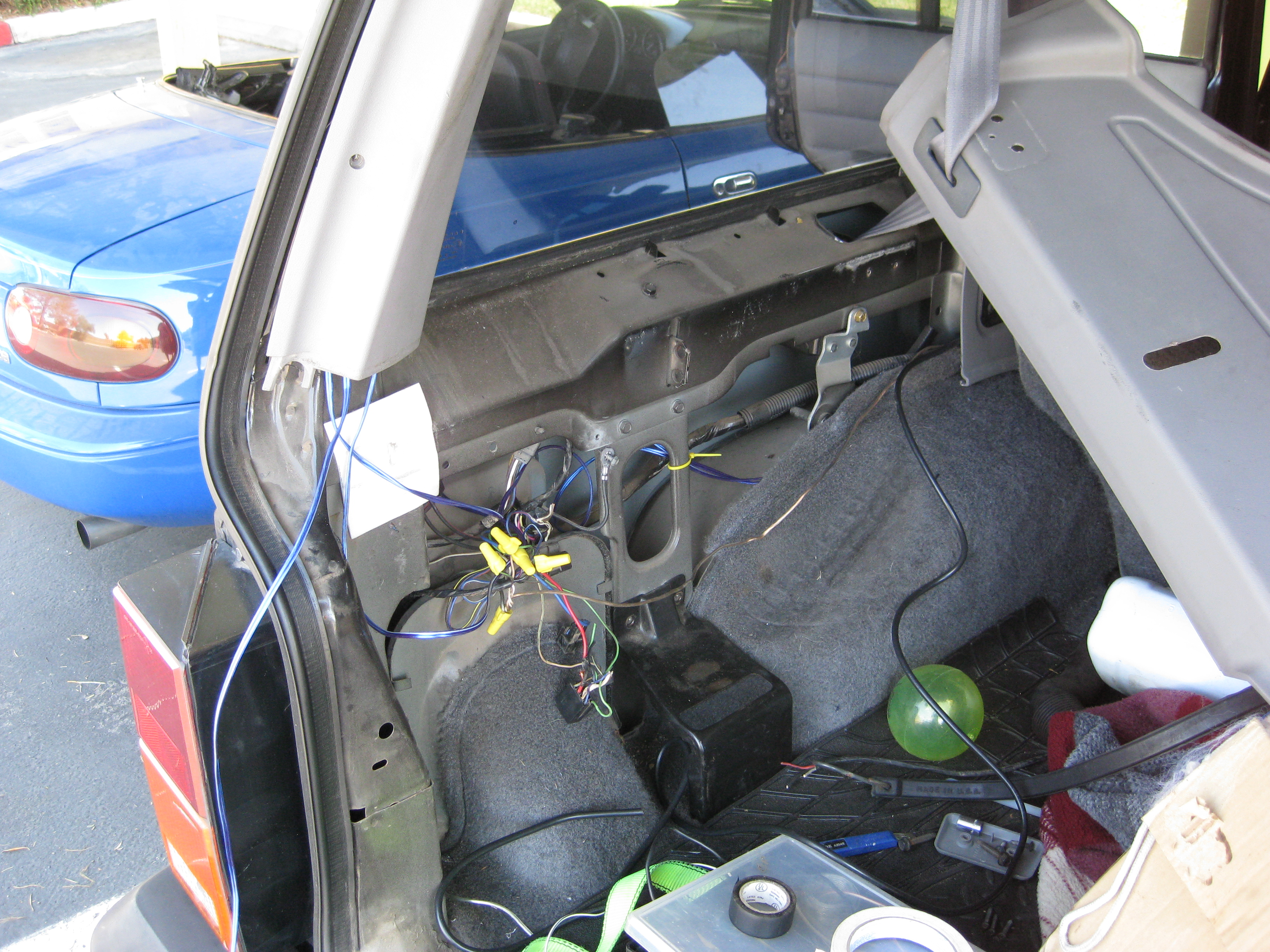 Picture of Setting Up Some Wires in the Truck