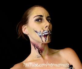Cheap Wal-Mart Halloween makeup - zombie edition!