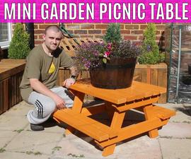 How to Make a Mini Garden Picnic Table