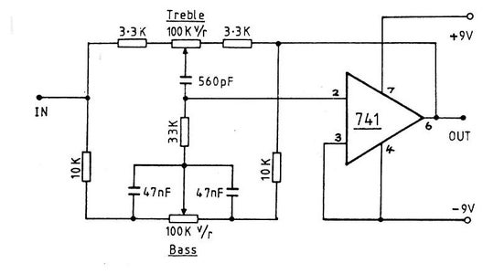 Active Tone Control Circuit