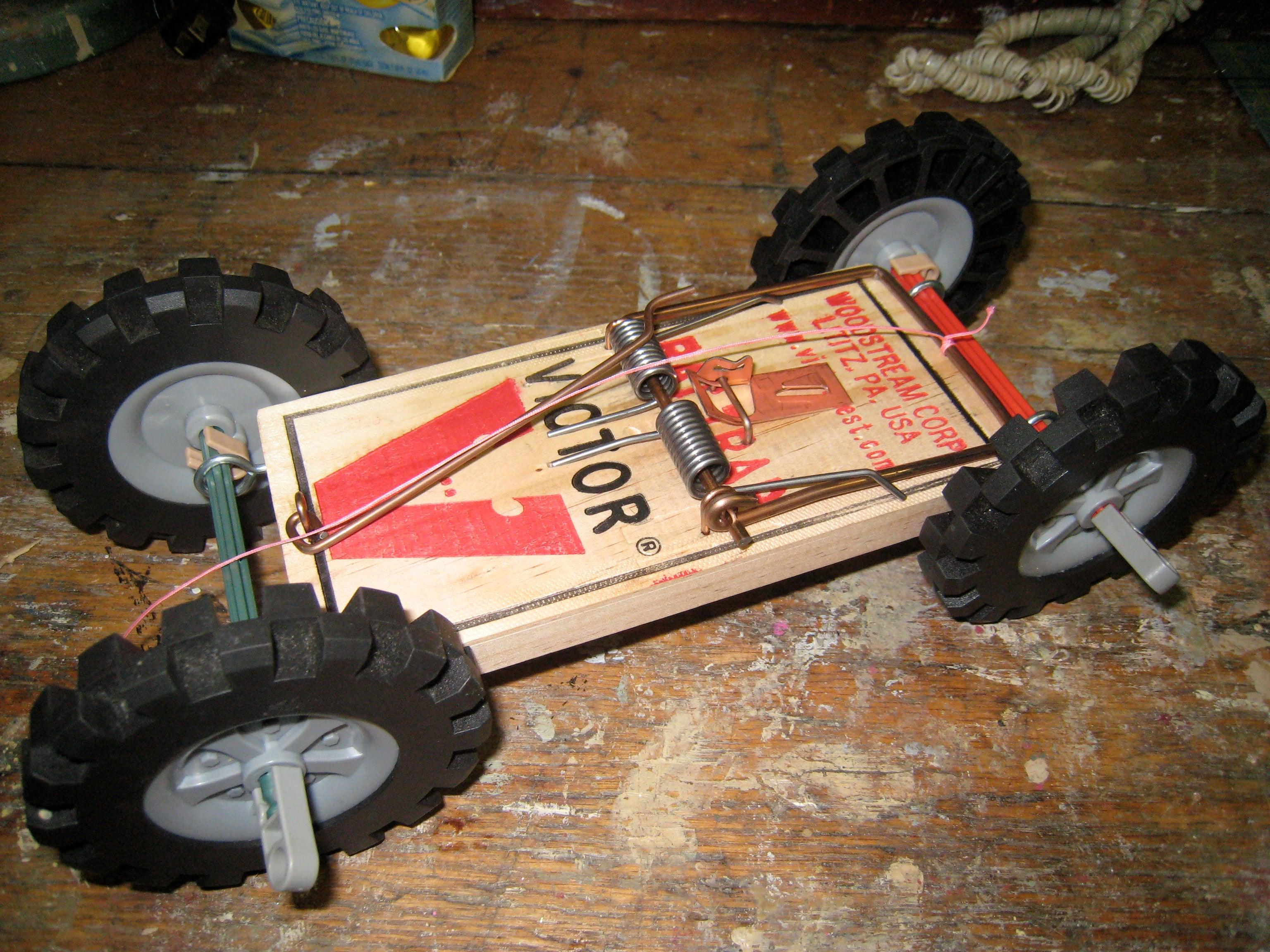 Rat Trap Car 7 Steps Instructables