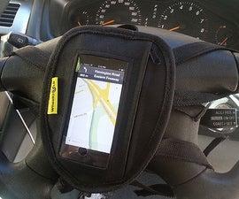 Wheeldock - safe steering wheel smartphone holder