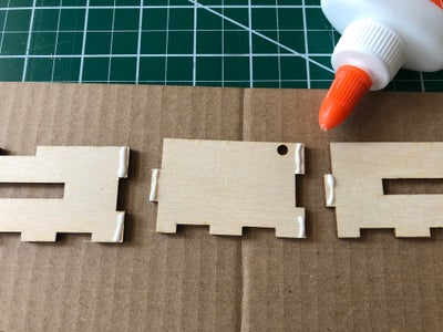 Glue Together the Front, Back and Left Side of Your Box.