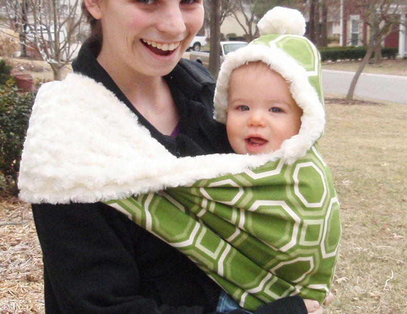 Picture of The Fox Hole, a Hooded Winter Baby Sling