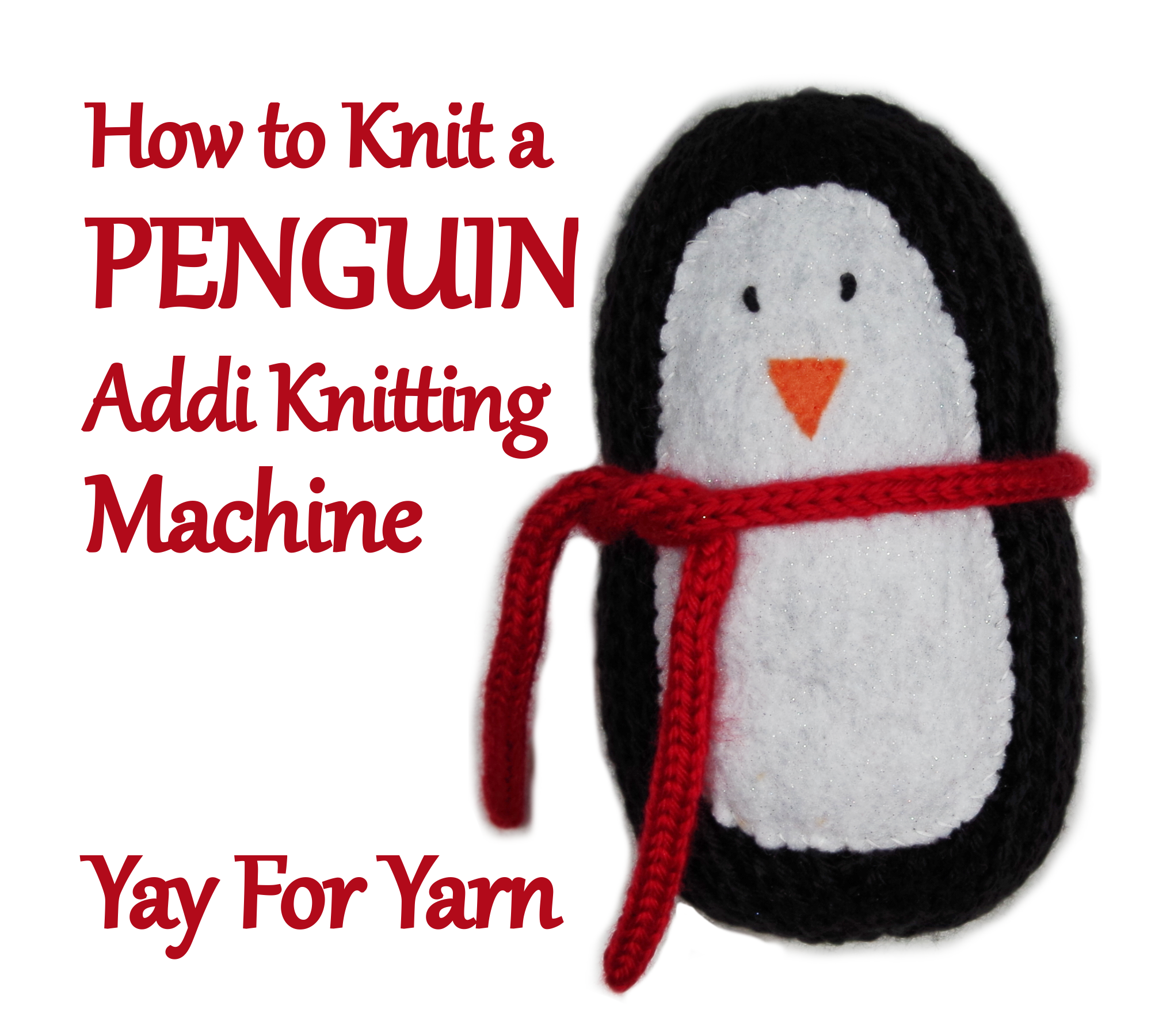 Picture of How to Knit a Penguin on Your Addi Knitting Machine