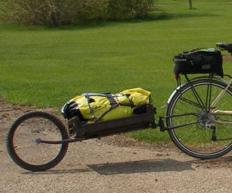 No Weld Single Wheel Bike Trailer