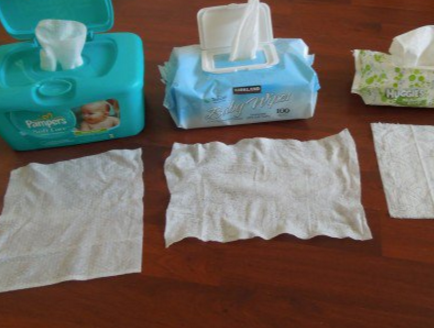 Picture of Baby Wet Wipes- Just Another Great Use.