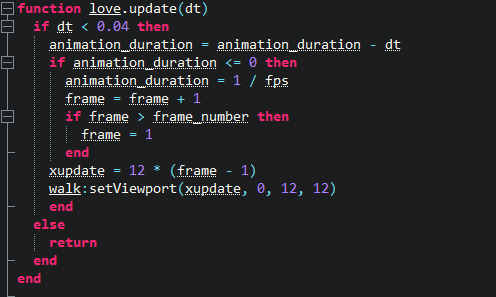 Picture of Love.update(dt) Function