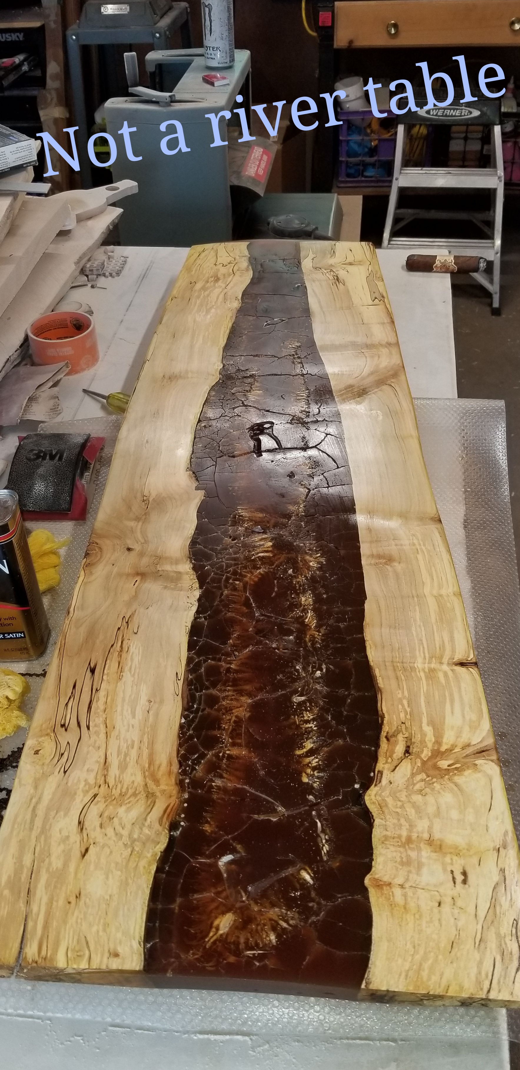 the wrong way to make a river table: 7 steps (with pictures)