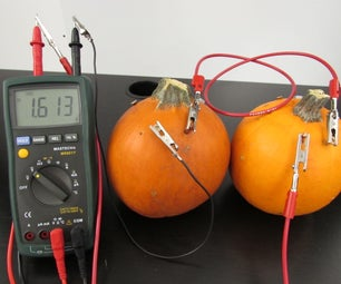 Pumpkin Power! - Battery Made From Pumpkins