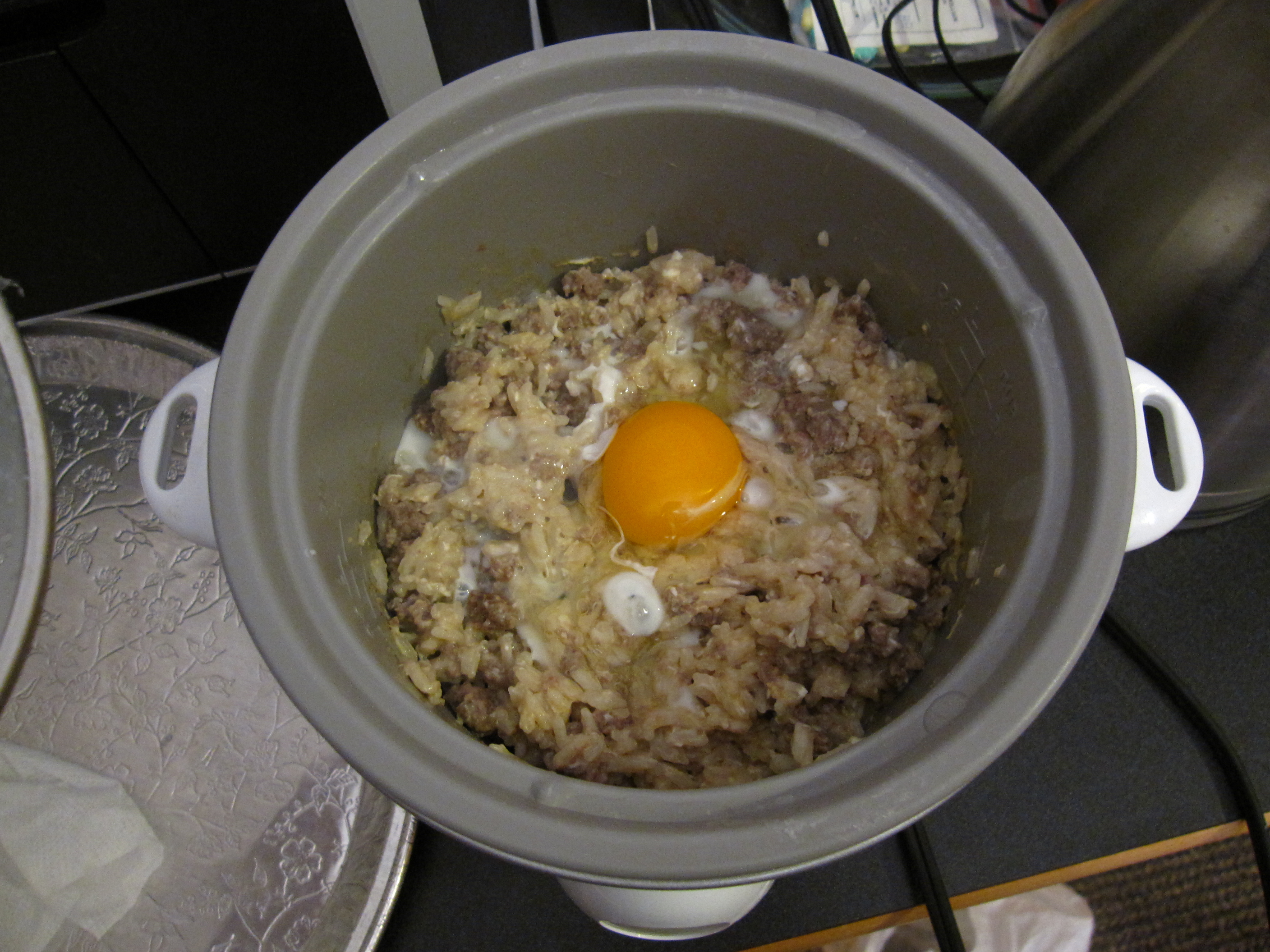 Picture of A Meal From a Rice Cooker
