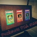 DIY Pokémon PSA card stand with RGB light from Arduino