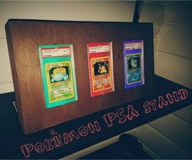 DIY Pokémon PSA card stand with RGB light from Arduino
