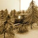 N-railway pine-trees (1/160 scale)