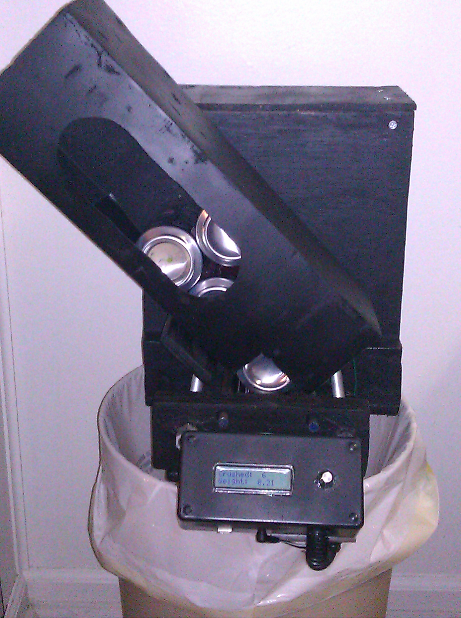 Picture of Arduino Controlled Can Crusher With LCD Readout.