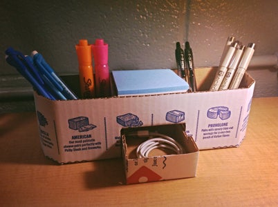 Awesome Cheap Upcycled Desk Organizer