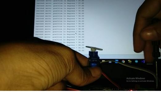 Servo Position Feedback  System With Arduino
