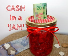 Jam Jar Piggy Bank
