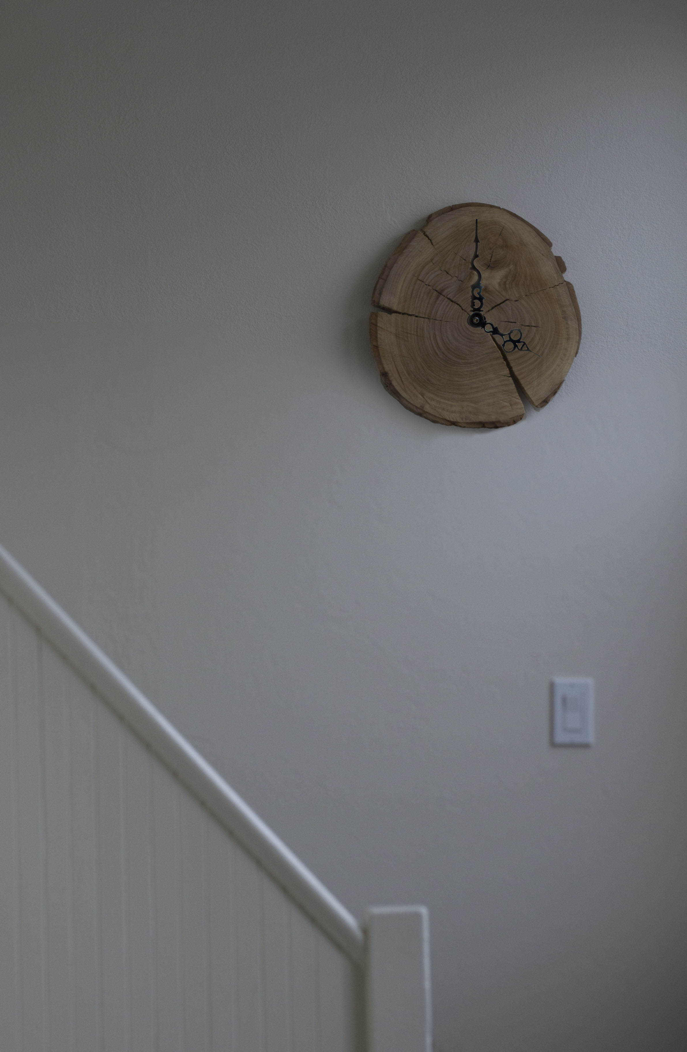 Picture of Wooden Stump Wall Clock