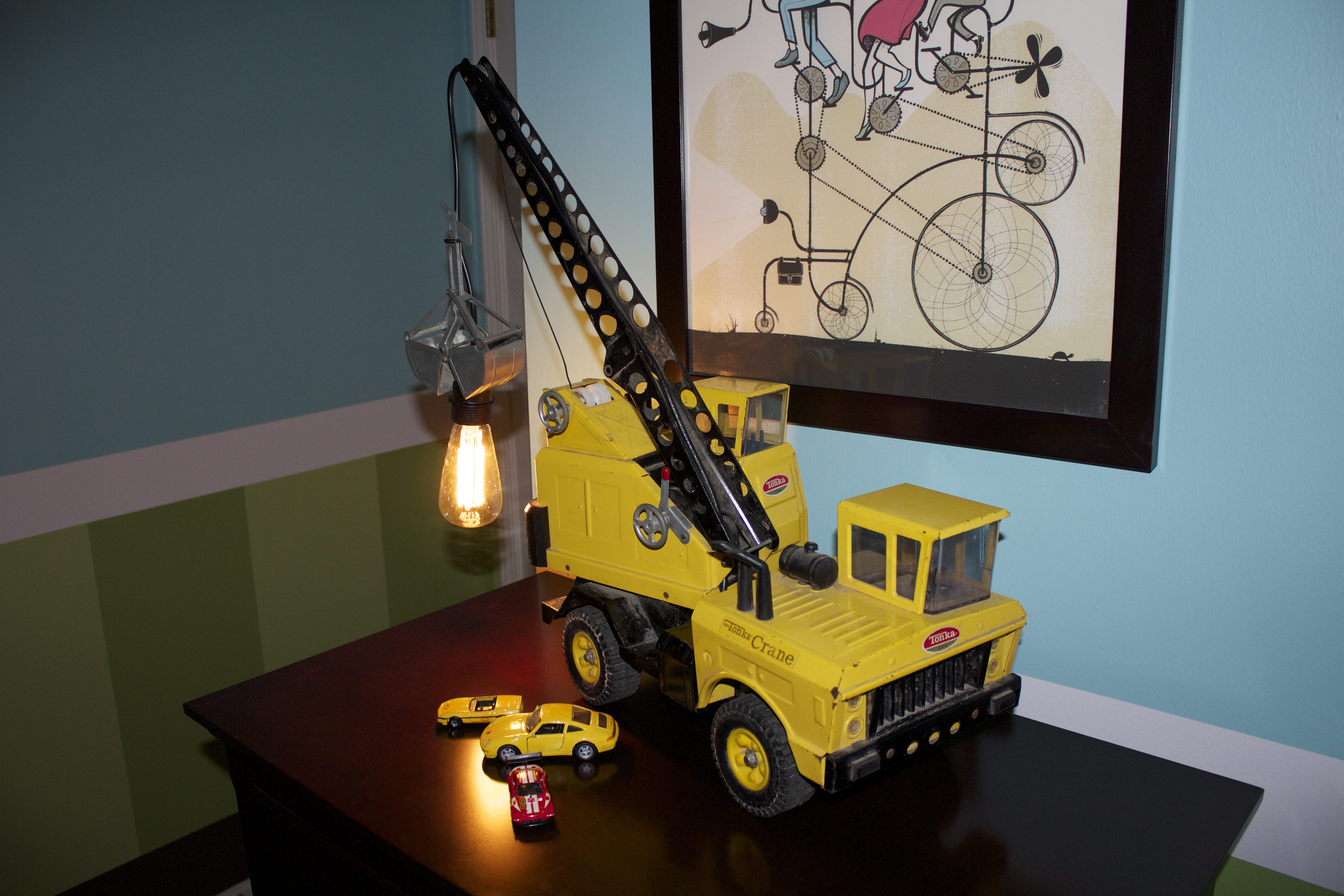 Picture of Vintage Toy Crane Lamp
