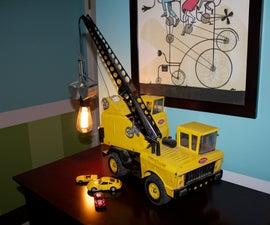 Vintage Toy Crane Lamp