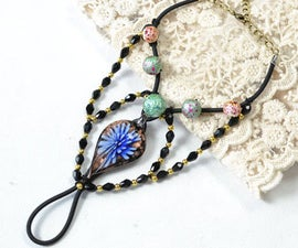 Ethnic Anklet Tutorial on How to Make an Anklet With String and Beads