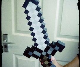 Create your own Minecraft iron sword