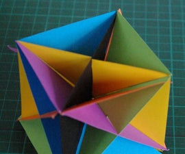 A method for making a cardboard cube showing its six diagonal planes of symmetry