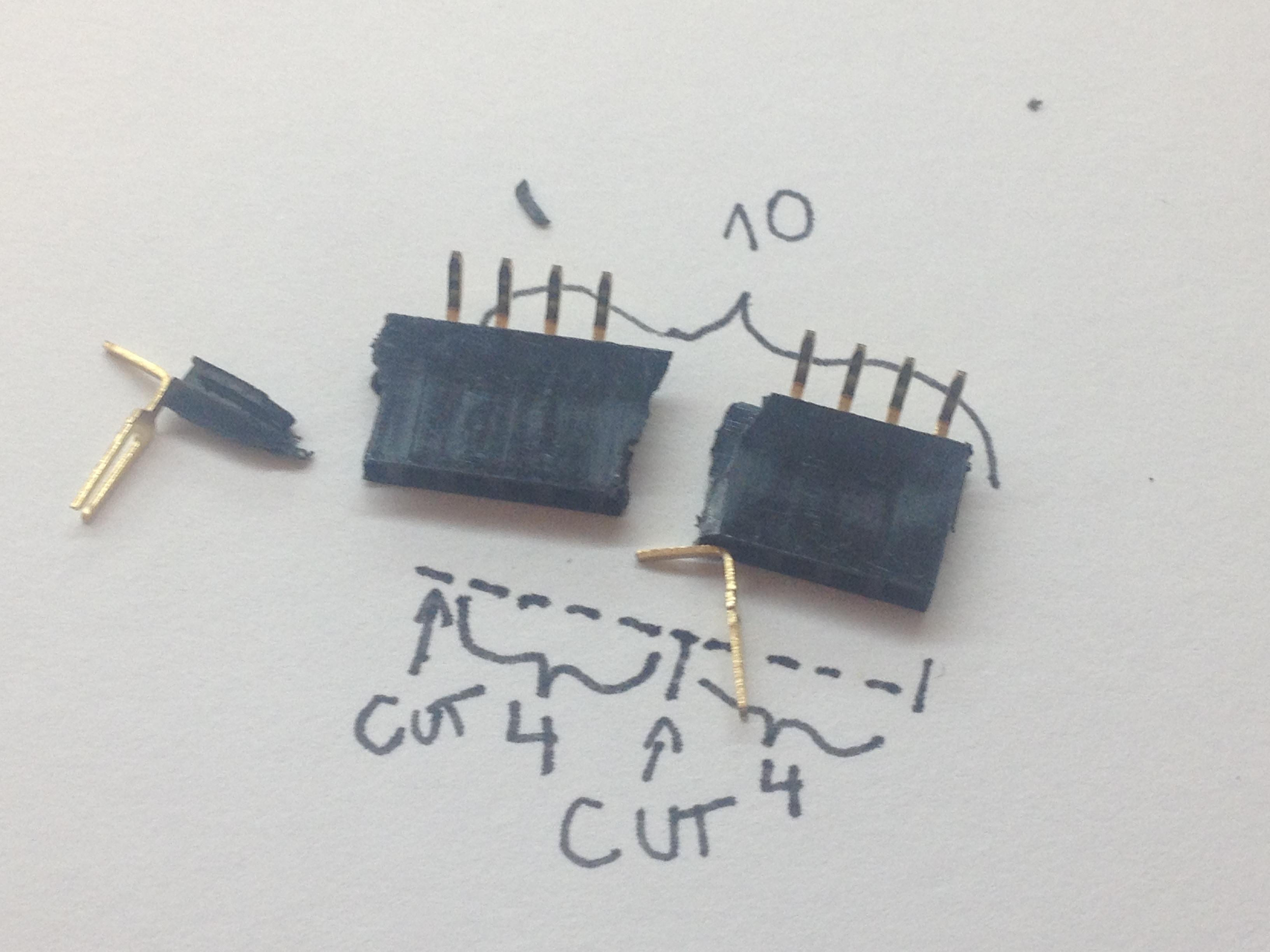 Picture of Prepare the 4 Pin Angle Female Headers