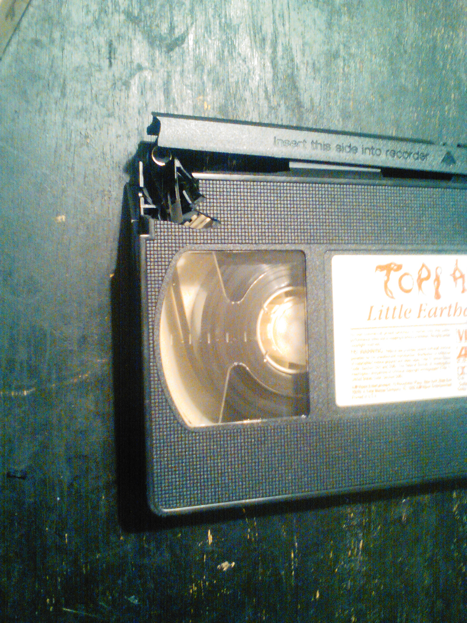Picture of How to Save a Cracked VHS Movie.