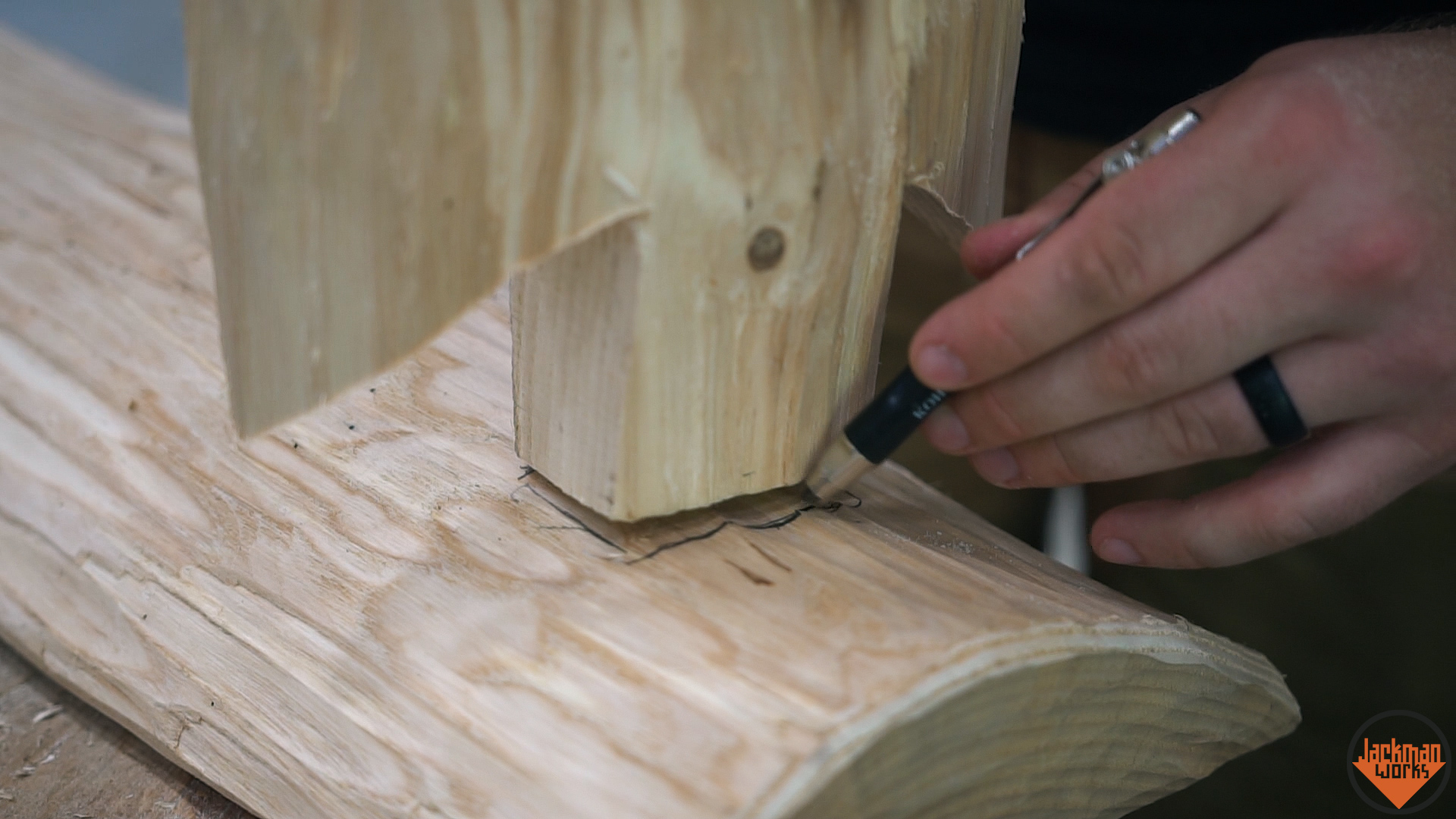 Picture of Preparing to Cut the Mortises