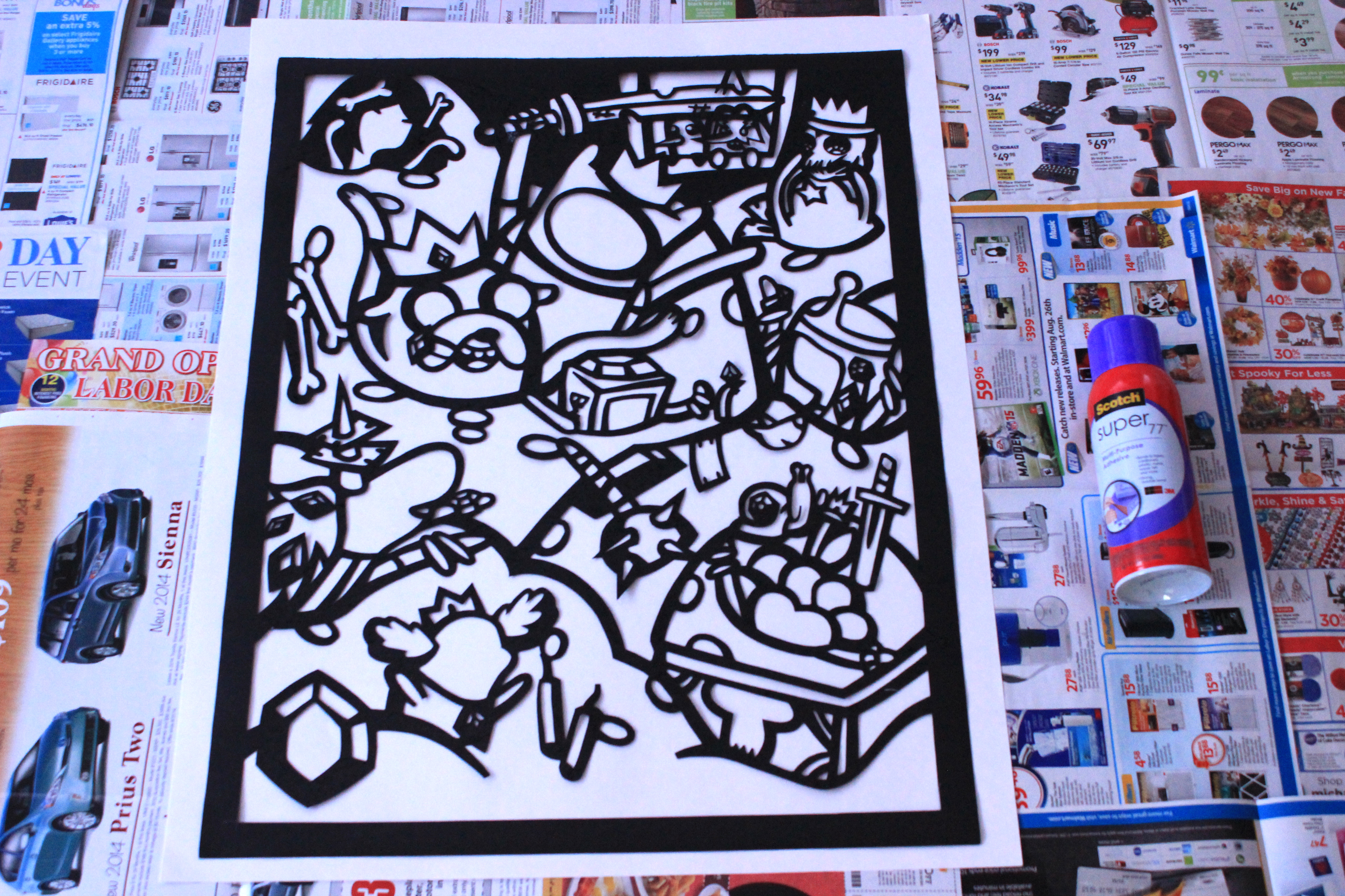 Picture of Glue Velour Paper to Poster
