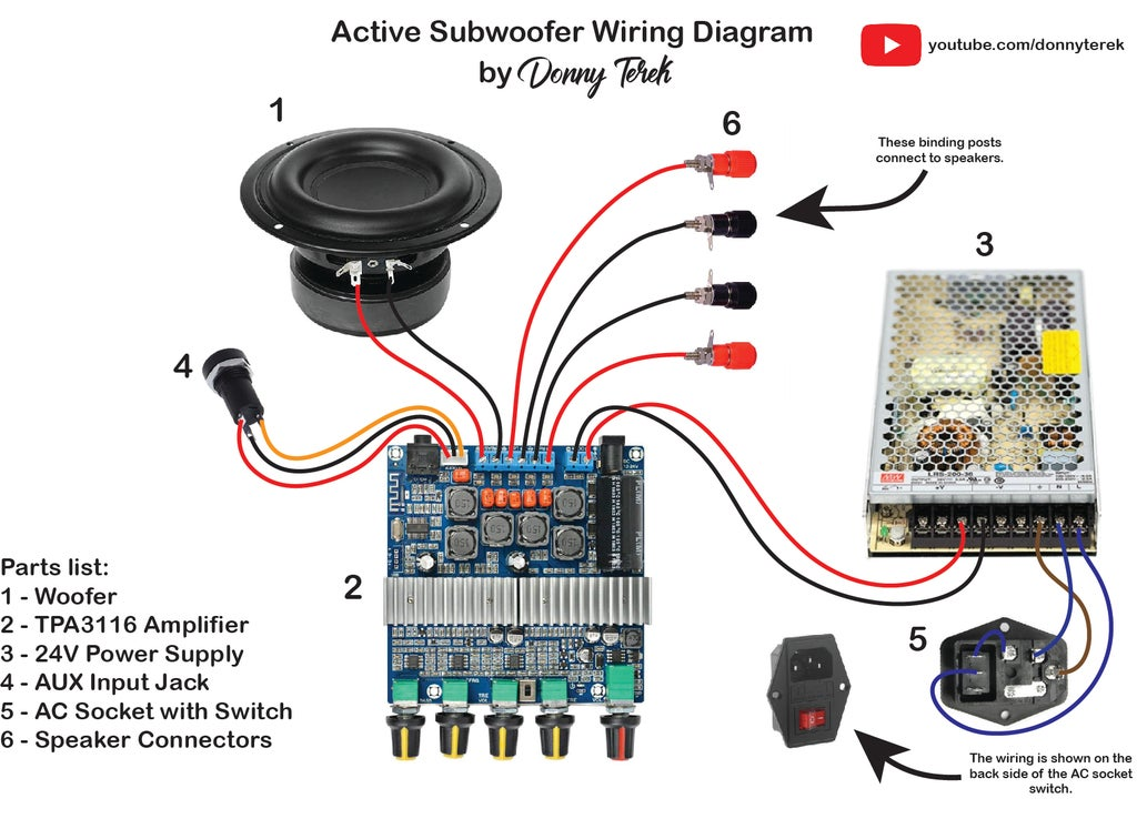 Powered Subwoofer Wiring Diagram from cdn.instructables.com