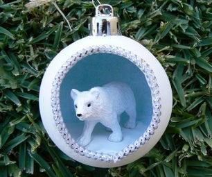 Winter Scene Bauble Ornament