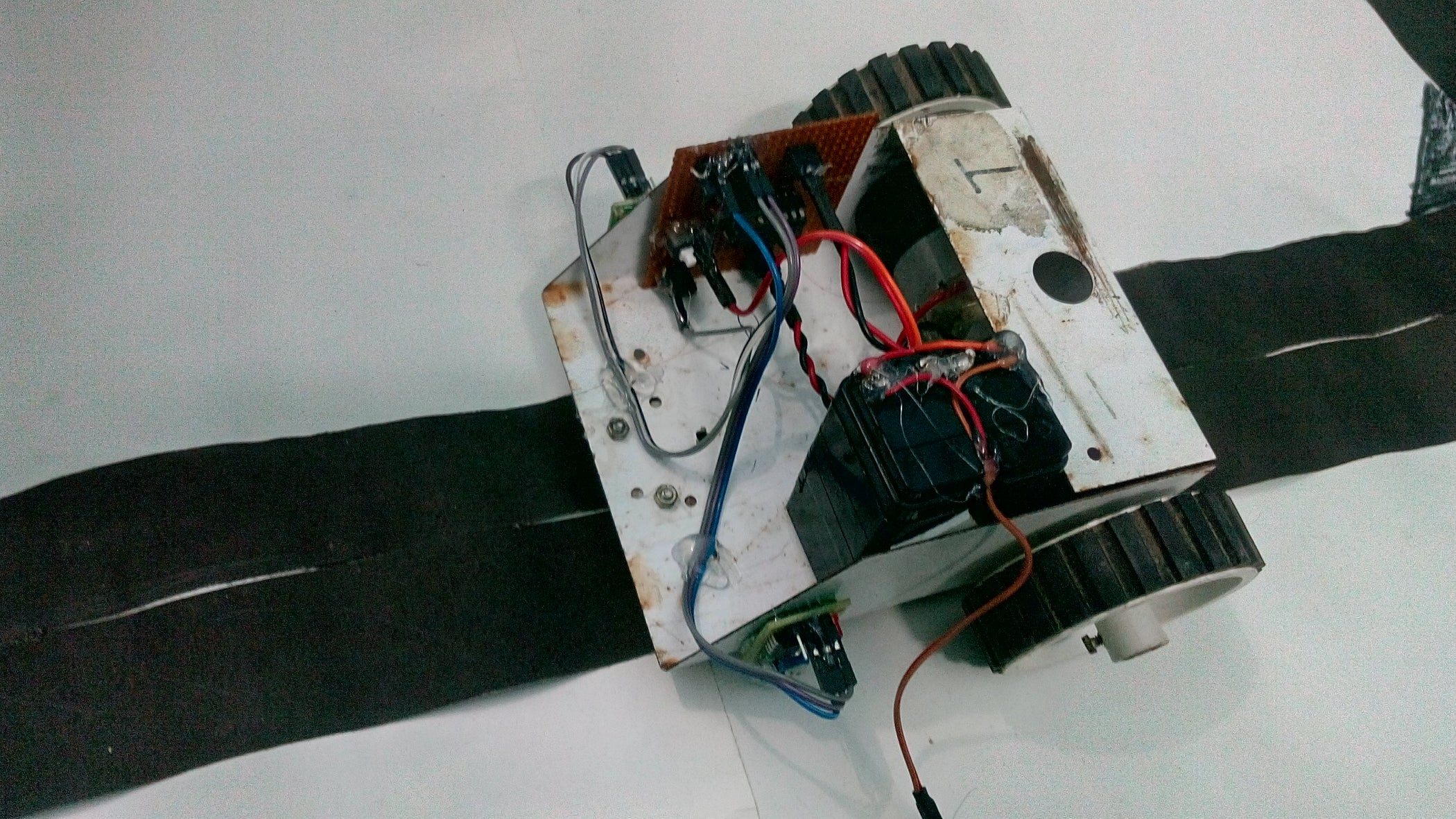 Line Follower Robot Without Arduino Or Microcontroller 3 Steps Following With Pictures
