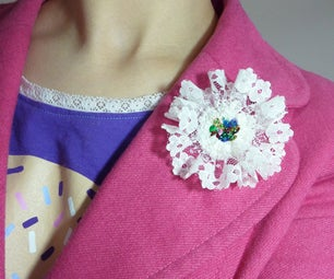Make a Lace Flower Brooch